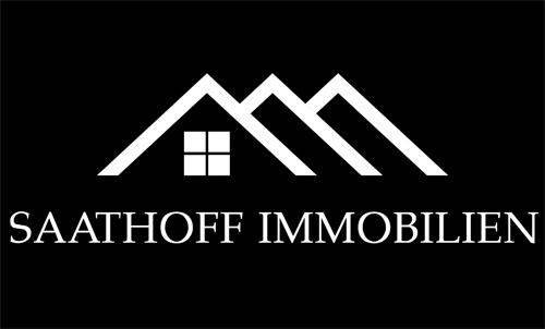 Saathoff Immobilien weiss auf schwarz